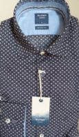 Neat Design  Navy Cotton Shirt - Olymp- 4008/34/85